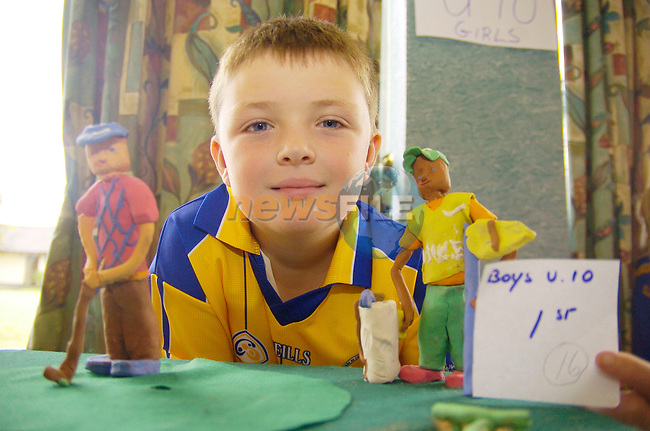 August 20th, 2006 Mosney Community Games..Dean Costelloe from Sixemilebridge, County Clare photographed with his winning entry in the Boys Under 10 model making competition..Photo: BARRY CRONIN/Newsfile..(Photo credit should read BARRY CRONIN/NEWSFILE).