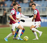 Burnley's Robbie Brady under pressure from Crystal Palace's Patrick van Aanholt<br /> <br /> Photographer Rich Linley/CameraSport<br /> <br /> The Premier League - Burnley v Crystal Palace - Saturday 30th November 2019 - Turf Moor - Burnley<br /> <br /> World Copyright © 2019 CameraSport. All rights reserved. 43 Linden Ave. Countesthorpe. Leicester. England. LE8 5PG - Tel: +44 (0) 116 277 4147 - admin@camerasport.com - www.camerasport.com