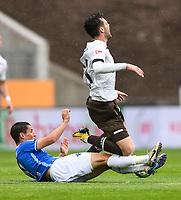Fabian Schnellhardt (SV Darmstadt 98), Borys Tashchy (FC St. Pauli) - 23.05.2020: Fussball 2. Bundesliga, Saison 19/20, Spieltag 27, SV Darmstadt 98 - FC St. Pauli, emonline, emspor, v.l. Stadionansicht Innenraum, Rasen Uebersicht vor dem Spiel<br /> <br /> <br /> Foto: Florian Ulrich/Jan Huebner/Pool VIA Marc Schüler/Sportpics.de<br /> Nur für journalistische Zwecke. Only for editorial use. (DFL/DFB REGULATIONS PROHIBIT ANY USE OF PHOTOGRAPHS as IMAGE SEQUENCES and/or QUASI-VIDEO)