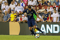 Landover, MD - July 23, 2019: Real Madrid Raphael Varane in action during the match between Arsenal and Real Madrid at FedEx Field in Landover, MD.   (Photo by Elliott Brown/Media Images International)