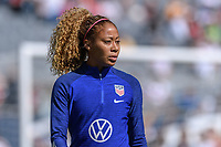 CHICAGO, IL - OCTOBER 06: Casey Short #26 of the United States during a game between the USA and Korea Republic at Soldier Field, on October 06, 2019 in Chicago, IL.