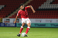 Chuks Aneke of Charlton Athletic scores the first penalty for Charlton in the Shoot-out during Charlton Athletic vs Forest Green Rovers, Caraboa Cup Football at The Valley on 13th August 2019
