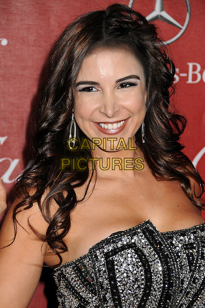 Mayra Veronica.24th Annual Palm Springs International Film Festival Awards Gala held at at Palm Springs Convention Center, Palm Springs, California, USA..January 5th, 2012.headshot portrait silver black embellished jewel encrusted  strapless .CAP/ADM/BP.©Byron Purvis/AdMedia/Capital Pictures.