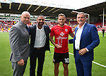 Dominic Ingle, Kell Brook, Billy Sharp and Kell's father Terry during the League One match at Bramall Lane Stadium, Sheffield. Picture date: September 17th, 2016. Pic Simon Bellis/Sportimage
