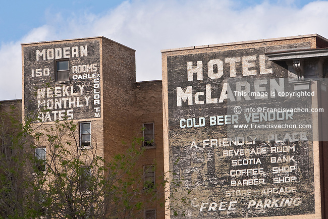 Hotel McLaren vintage Mural advertisement is pictured in Winnipeg Sunday May 22, 2011.