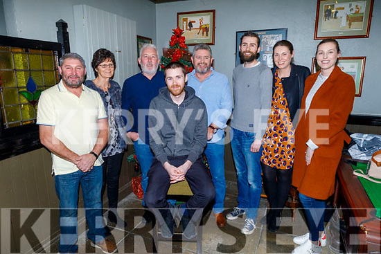 Ready to be shaved for a good cause raising funds for Palliative Care in memory of Tom Raymond in the Munster Bar on Sunday.<br /> L to r: Martin Keane, Catherine Raymonmd, Billy Hennessy, Thomas Raymond, Willie Deenihan and Richard, Jessica and Triona Raymond