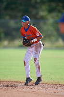 Mikey Romero (32) during the WWBA World Championship at the Roger Dean Complex on October 13, 2019 in Jupiter, Florida.  Mikey Romero attends Vista Murrieta High School in Menifee, CA and is committed to Arizona.  (Mike Janes/Four Seam Images)