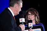 CLAYTON, MO - APRIL 14: ESPN commentator Carolyn Dorin offers speaks during the Division I Women's Bowling Championship held at Tropicana Lanes on April 14, 2018 in Clayton, Missouri. (Photo by Tim Nwachukwu/NCAA Photos via Getty Images)