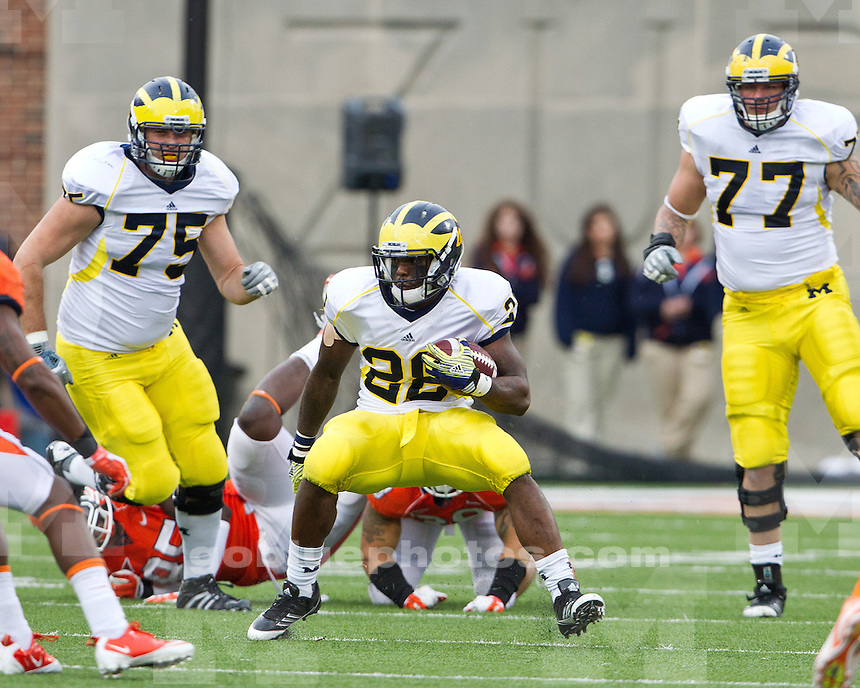 The University of Michigan football team defeated the University of Illinois, 31-14, at Memorial Stadium in Champaign, Ill. on November 12, 2011.