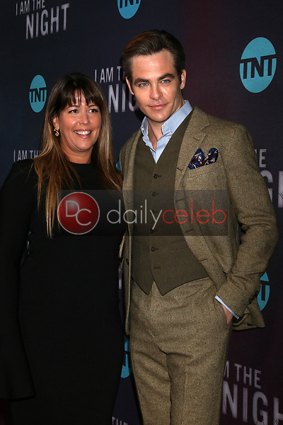 "Patty Jenkins, Chris Pine<br /> at the ""I Am The Night"" Premiere, Harmony Gold Theater, Los Angeles, CA 01-24-19<br /> David Edwards/DailyCeleb.com 818-249-4998"
