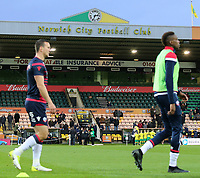 The Bolton Wanderers players warm up at Carrow Road<br /> <br /> Photographer David Shipman/CameraSport<br /> <br /> The EFL Sky Bet Championship - Norwich City v Bolton Wanderers - Saturday 8th December 2018 - Carrow Road - Norwich<br /> <br /> World Copyright &copy; 2018 CameraSport. All rights reserved. 43 Linden Ave. Countesthorpe. Leicester. England. LE8 5PG - Tel: +44 (0) 116 277 4147 - admin@camerasport.com - www.camerasport.com