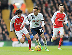 Tottenham's Dele Alli tussles with Arsenal's Mohamed Elneny<br /> <br /> - English Premier League - Tottenham Hotspur vs Arsenal  - White Hart Lane - London - England - 5th March 2016 - Pic David Klein/Sportimage