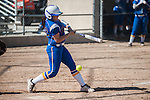 Western Nevada's Britni Greninger (22) misses a hit against Salt Lake Community College during the first of a two game series in Carson City, Nev. on Saturday, March 7, 2015. Western Nevada was defeated in the first game by Salt Lake Community College 11-2. (Photo by Kevin Clifford/WNC).