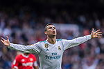 Cristiano Ronaldo of Real Madrid celebrating his score during the La Liga 2017-18 match between Real Madrid and Sevilla FC at Santiago Bernabeu Stadium on 09 December 2017 in Madrid, Spain. Photo by Diego Souto / Power Sport Images