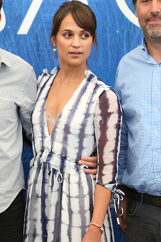 Alicia Vikander attends 'The Light Between Oceans' photocall during the 73rd Venice Film Festival on September 01, 2016 in Venice, Italy. <br /> CAP/GOL<br /> &copy;GOL/Capital Pictures /MediaPunch ***NORTH AND SOUTH AMERICAS ONLY***