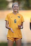 09 September 2016: West Virginia's Heather Kaleiohi. The Duke University Blue Devils hosted the West Virginia University Mountaineers at Koskinen Stadium in Durham, North Carolina in a 2016 NCAA Division I Women's Soccer match. West Virginia won the match 3-1.