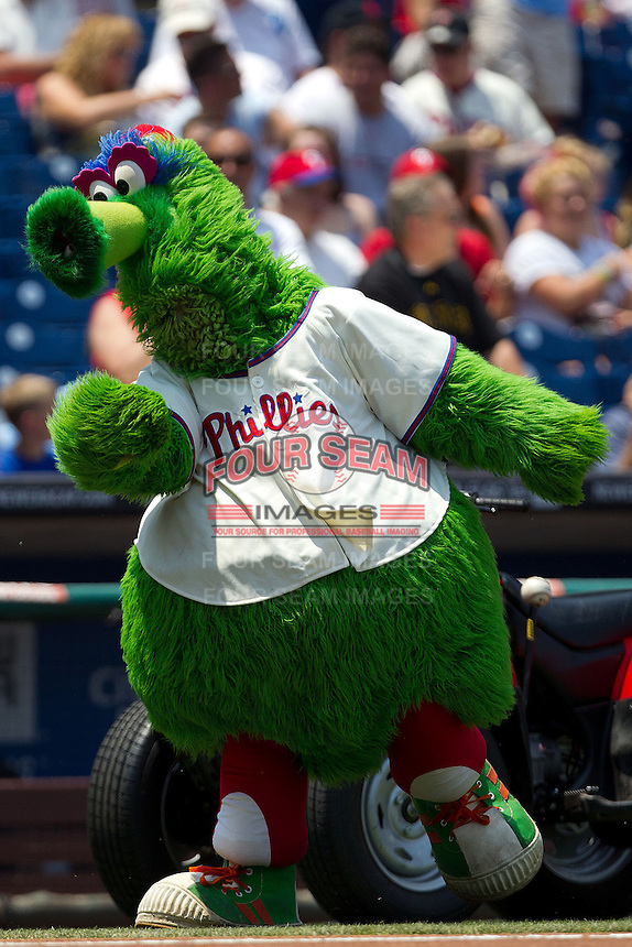 Phillies Phantic before the Major League Baseball game against the Pittsburgh Pirates on June 28, 2012 at Citizens Bank Park in Philadelphia, Pennsylvania. The Pirates defeated the Phillies 5-4. (Andrew Woolley/Four Seam Images)..