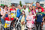 Milltown and Killorglin cyclists celebrate with their families after finishing the Ring of Kerry cycle in Killarney on Saturday front row l-r: Seamus Murphy, Aoife O'Shea, Shauna O'sullivan, Tadhg O'Shea. Back row: Valarie O'Sullivan, Jackie Murphy, Norma O'Shea, Mike O'Shea, Geraldine O'Sullivan and John Joe O'Sullivan
