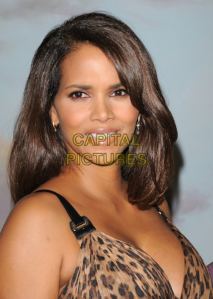HALLE BERRY.Attends The Jenesse Silver Rose Gala and Auction held at The Beverly Hills Hotel in Beverly Hills, California, USA, April 27th 2008.   .portrait headshot leopard print              .CAP/DVS.©Debbie VanStory/Capital Pictures