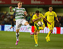 Villareal's Cristian Galas clears from Leigh Griffiths.
