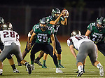 Torrance, CA 10/09/15 - Reza Amraei (South #59) and Gabe Zuniga (South #13) in action during the Torrance vs South High varsity football game.  South defeated Torrance 24-21.