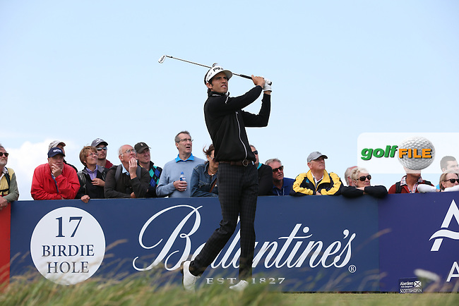 Pedro Oriol (ESP) keeps himself in contention with a 67 during Round Three of the 2015 Aberdeen Asset Management Scottish Open, played at Gullane Golf Club, Gullane, East Lothian, Scotland. /11/07/2015/. Picture: Golffile | David Lloyd<br /> <br /> All photos usage must carry mandatory copyright credit (&copy; Golffile | David Lloyd)