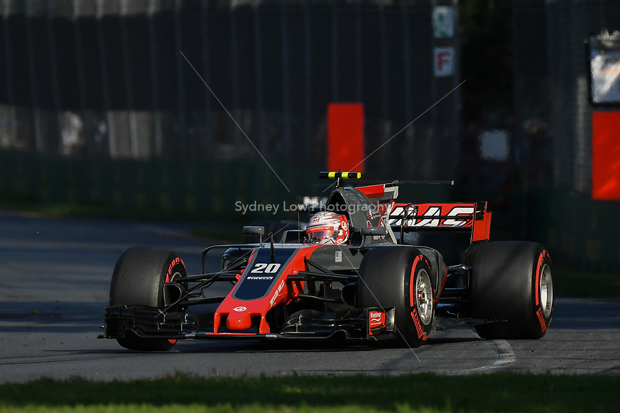 March 26, 2017: Kevin Magnussen (DEN) #20 from the Haas F1 Team rounds turn three at the 2017 Australian Formula One Grand Prix at Albert Park, Melbourne, Australia. Photo Sydney Low