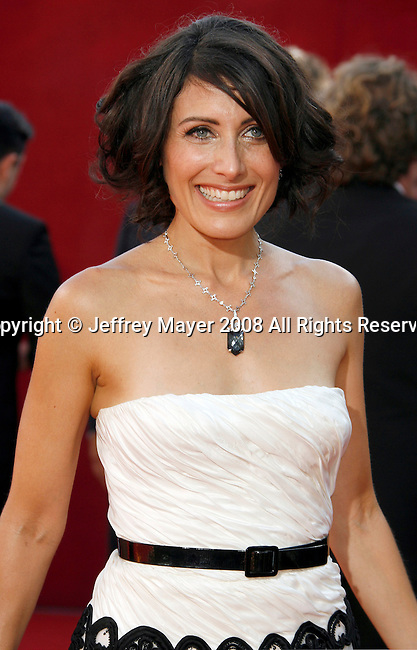 LOS ANGELES, CA. - September 21: Actress Lisa Edelstein arrives at the 60th Primetime Emmy Awards at the Nokia Theater on September 21, 2008 in Los Angeles, California.