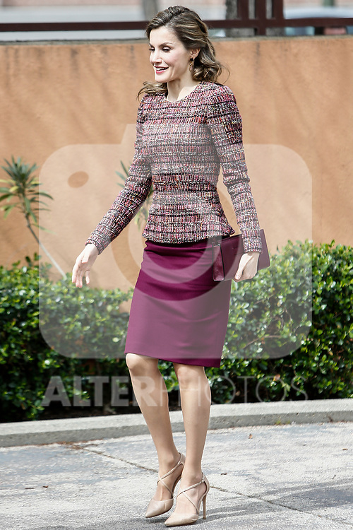 Queen Letizia attends at Spanish documentation center on disability  in Madrid, Spain. March 21, 2017. (ALTERPHOTOS / Rodrigo Jimenez)