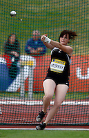 Photo: Richard Lane/Richard Lane Photography..Aviva World Trials & UK Championships athletics. 11/07/2009. Hayley Murray in the women's hammer.