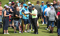 Tyrrell Hatton (ENG) during a practice round ahead of the 148th Open Championship, Royal Portrush Golf Club, Portrush, Antrim, Northern Ireland. 16/07/2019.<br /> Picture David Lloyd / Golffile.ie<br /> <br /> All photo usage must carry mandatory copyright credit (© Golffile | David Lloyd)