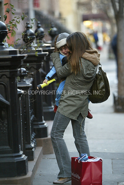 WWW.ACEPIXS.COM . . . . .  ....January 27 2006, New York City....Lots of domestic activity was going on at Sarah Jessica Parker's West Village home. First off Matthew Broderick brought son James home from his daytime activities in a stroller. Then Sarah Jessica Parker nipped out in her trademark blue hooded parker and Ugg boots for a quick styling session at the local hair salon. Whilst there she had a good read of various celebrity magazines.....Once her hair was suitably syled she walked home, changed into a casual but quite stylish outfit and brought son James out of the house to wait for a car. But alas the poor little mite just couldn't stop crying, despite mother's very best efforts. Our photographer said that James appeared to want his father. Eventually the car came and Sarah Jessica and James dissappeared on their way.....Please byline: JENNIFER L GONZELES - ACEPIXS.COM....Ace Pictures, Inc:  ..Philip Vaughan (212) 243-8787 or (646) 769 0430..e-mail: info@acepixs.com..web: http://www.acepixs.com