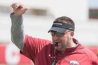 NWA Democrat-Gazette/J.T. WAMPLER Razorback head coach Bret Bielema during practice Saturday July 29, 2017 in Fayetteville.