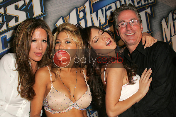 """Galen Brown, Rachel Sterling, Kerri Kasem and Jack Silver<br /> <br /> at """"Milwaukee's Best"""" Bash hosted by 97.1 Free FM's """"Two Chicks and a Bunny,"""" Playboy Mansion, Beverly Hills, CA 02-25-06<br /> <br /> <br /> <br /> David Edwards/DailyCeleb.com 818-249-4998"""