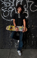 Dan Alexander Daniel Barragan, (18 years old). Portraits of Adolescents San Cosme skate park, in Mexico City. Releas #30