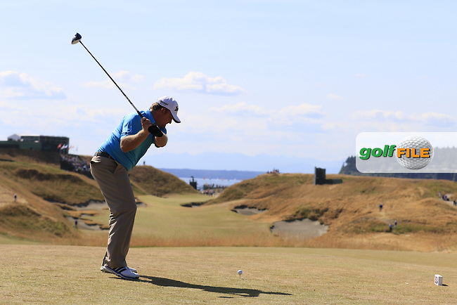 J.B. HOLMES (USA) tees off the 10th tee during Saturday's Round 3 of the 2015 U.S. Open 115th National Championship held at Chambers Bay, Seattle, Washington, USA. 6/21/2015.<br /> Picture: Golffile | Eoin Clarke<br /> <br /> <br /> <br /> <br /> All photo usage must carry mandatory copyright credit (&copy; Golffile | Eoin Clarke)