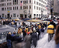 "Out takes from ""The Harvard Design School Guide to Shopping"" published by Tashen. A busy intersection of christmas shoppers on 5th ave. outside of FAO Schwartz."