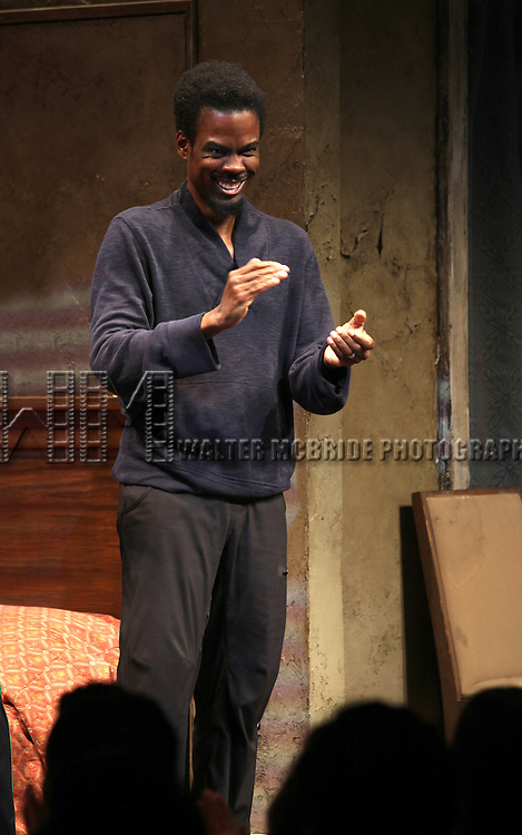 Chris Rock.during the Broadway Opening Night Performance Curtain Call for 'The Mother F**ker with the Hat'  in New York City.