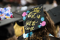 Decorated graduation caps<br />  (photo by Beth Wynn / &copy; Mississippi State University)