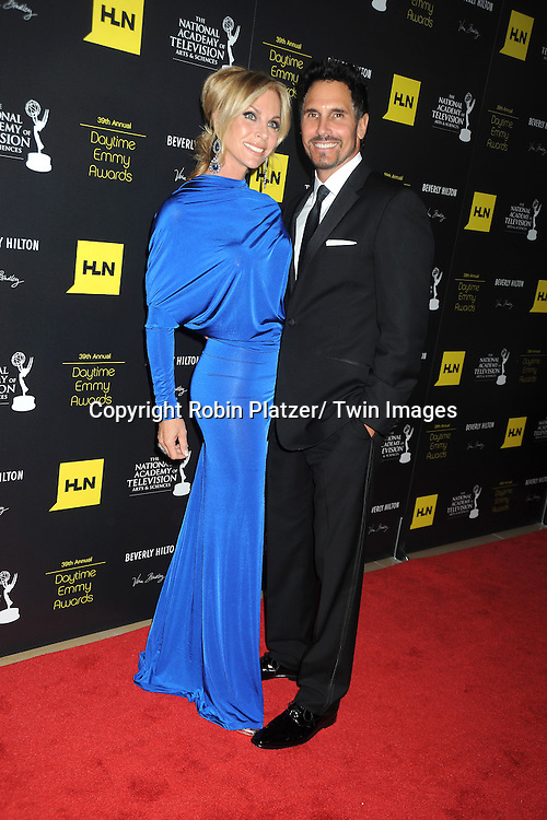 Don Diamont and Cindy attends the 39th Annual Daytime Emmy Awards on June 23, 2012 at the Beverly Hilton in Beverly Hills, California. The awards were broadcast on HLN.