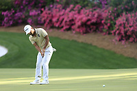 Satoshi Kodaire (USA) on the 13th green during the 1st round at the The Masters , Augusta National, Augusta, Georgia, USA. 11/04/2019.<br /> Picture Fran Caffrey / Golffile.ie<br /> <br /> All photo usage must carry mandatory copyright credit (© Golffile | Fran Caffrey)