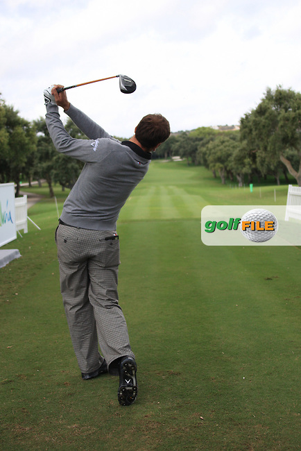 Nick Dougherty (ENG) during the pro-am at the  Andalucía Masters at Club de Golf Valderrama, Sotogrande, Spain. .Picture Fran Caffrey www.golffile.ie