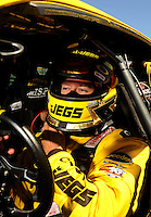 Jul. 17, 2010; Sonoma, CA, USA; NHRA pro stock driver Jeg Coughlin during qualifying for the Fram Autolite Nationals at Infineon Raceway. Mandatory Credit: Mark J. Rebilas-