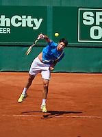 08-07-13, Netherlands, Scheveningen,  Mets, Tennis, Sport1 Open, day one, Paul Capdeville (CHI)<br /> <br /> <br /> Photo: Henk Koster