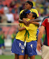 Brazil celebrate goal over Norway. 2003WWC Norway v Brazil