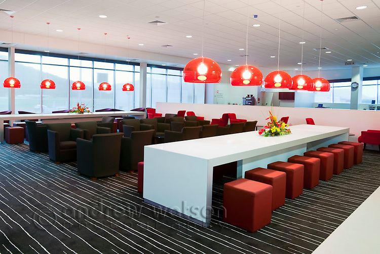 Qantas Club Lounge at Cairns Domestic Airport.  Cairns, Queensland, Australia