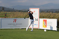 Mike Lorenzo-Vera (FRA) on the 14th tee during Round 1 of the Rocco Forte Sicilian Open 2018 on Thursday 10th May 2018.<br /> Picture:  Thos Caffrey / www.golffile.ie<br /> <br /> All photo usage must carry mandatory copyright credit (&copy; Golffile | Thos Caffrey)