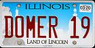 "June 1, 2019; Illinois license plate ""DOMER 19""  (Photo by Matt Cashore/University of Notre Dame)"