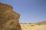 Dead Sea valley, rock formations by Masada