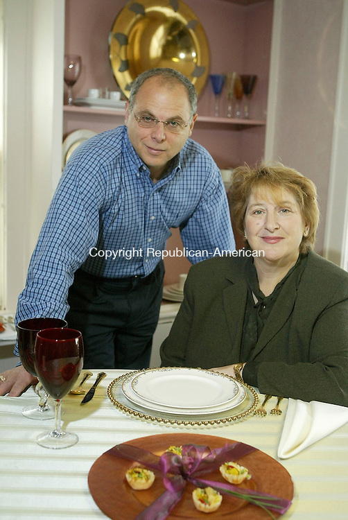CHESHIRE, CT-25 April 2005-042505TK02 (left to right:) Jeffrey and Debra Rapoport of Jordan Caters of Cheshire is about to add an 8,500 square foot addition to its catering headquarters that will enable the company to offer cooking classes among other  services.    Tom Kabelka staff photo (Jordan Caters, Jeffrey and Debra Rapoport)CQ